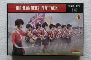 Strelets 1/72 ST0146 Highlanders In Attack (Napoleonic)